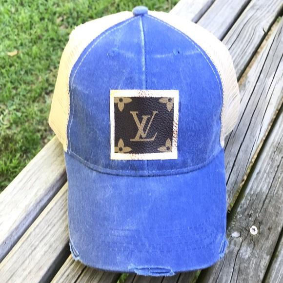 df82d79a Accessories | Newroyal Blue Monogram Patch Hat | Poshmark